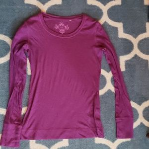 SO brand, Berry colored, long sleeved top